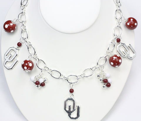 Oklahoma Bauble Charm Necklace
