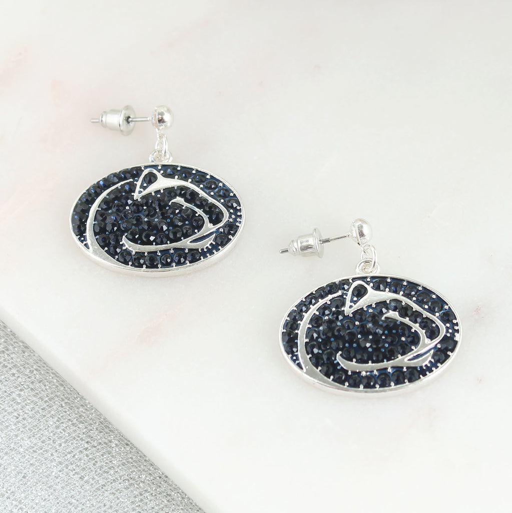 Penn State Crystal Logo Earrings