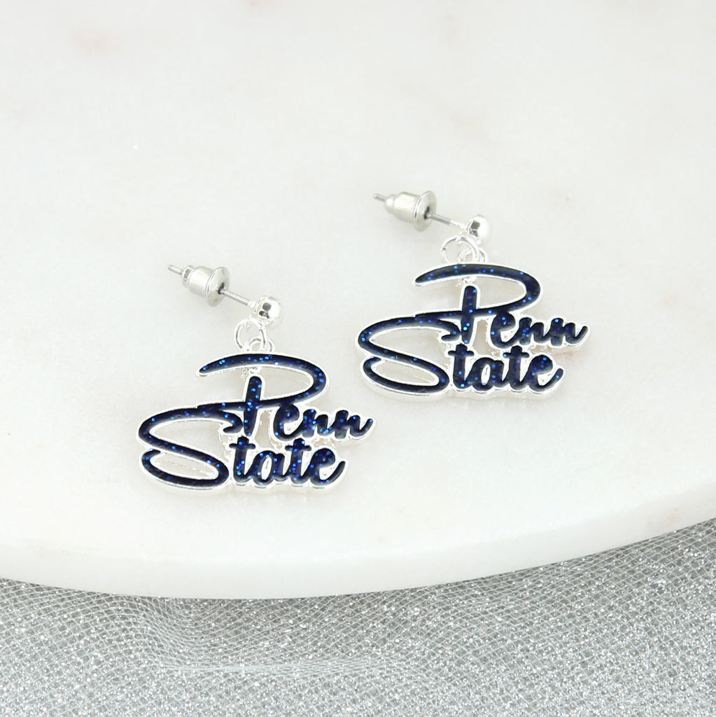 Penn State Slogan Earrings
