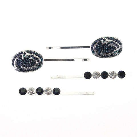Seasons Jewelry Penn State Crystal Logo Hair Pin Set