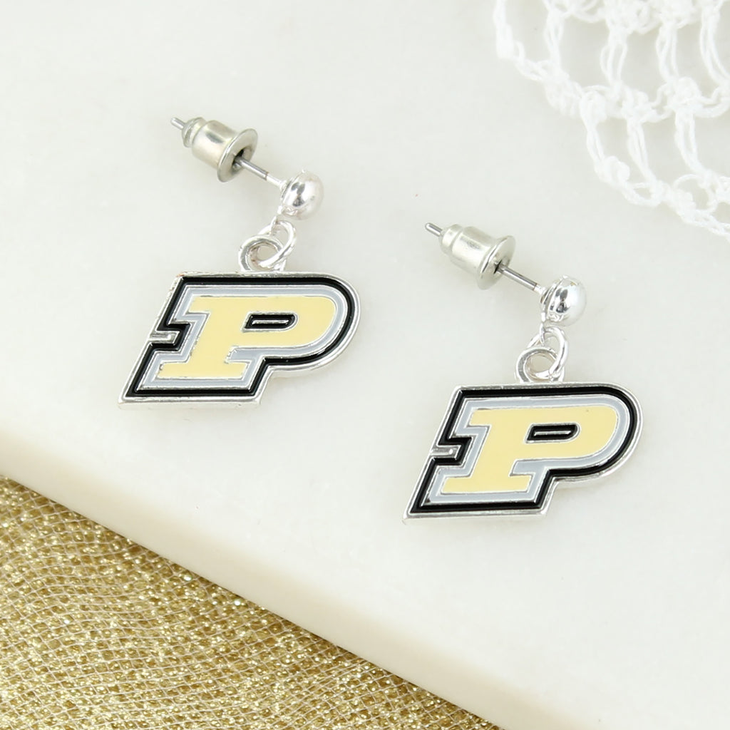 Purdue Logo Enamel Earrings