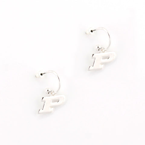 Purdue Logo Hoop Earrings