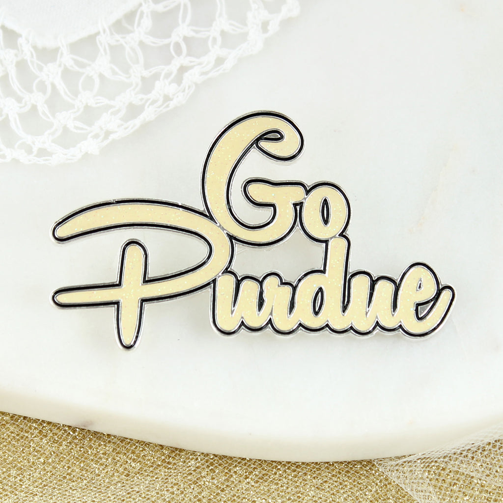 Purdue Slogan Pin