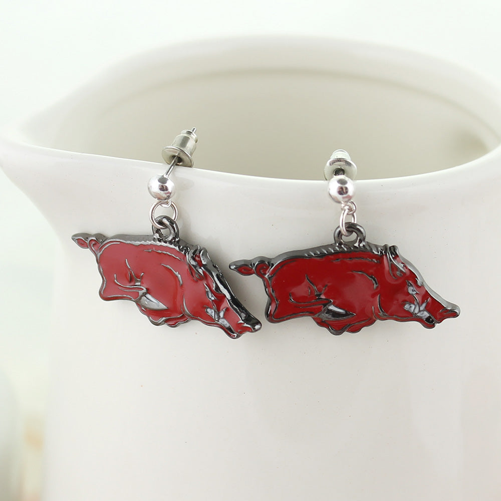 Arkansas Enamel Logo Earrings