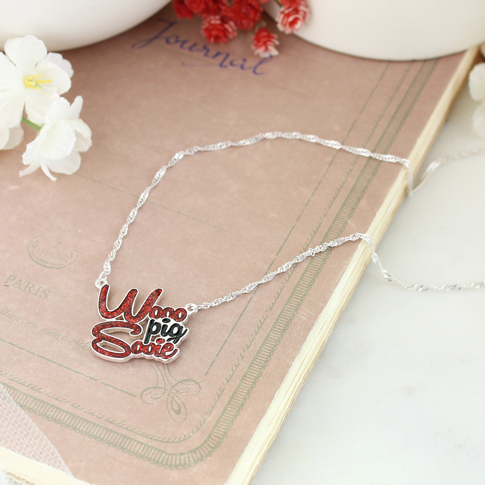 Arkansas Slogan Necklace