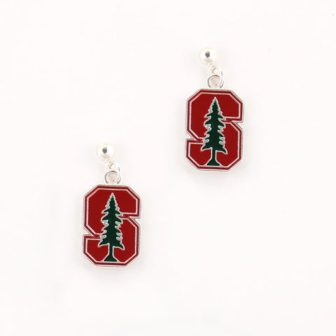 Stanford Logo Enamel Earrings