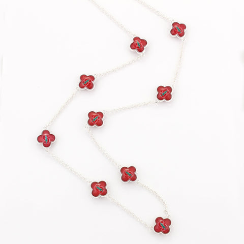 Stanford Quatrefoil Necklace