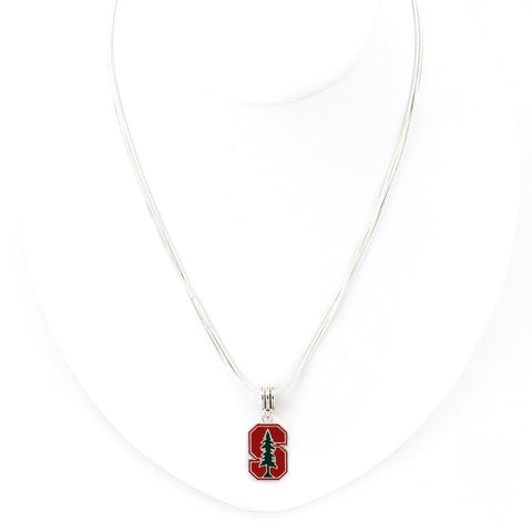 Stanford Enamel Logo Necklace