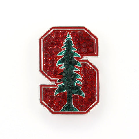 Stanford Crystal Logo Pin