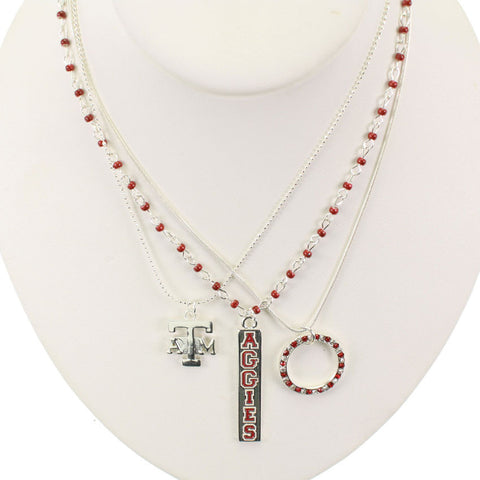 Seasons Jewelry Texas A&M Trio Necklace