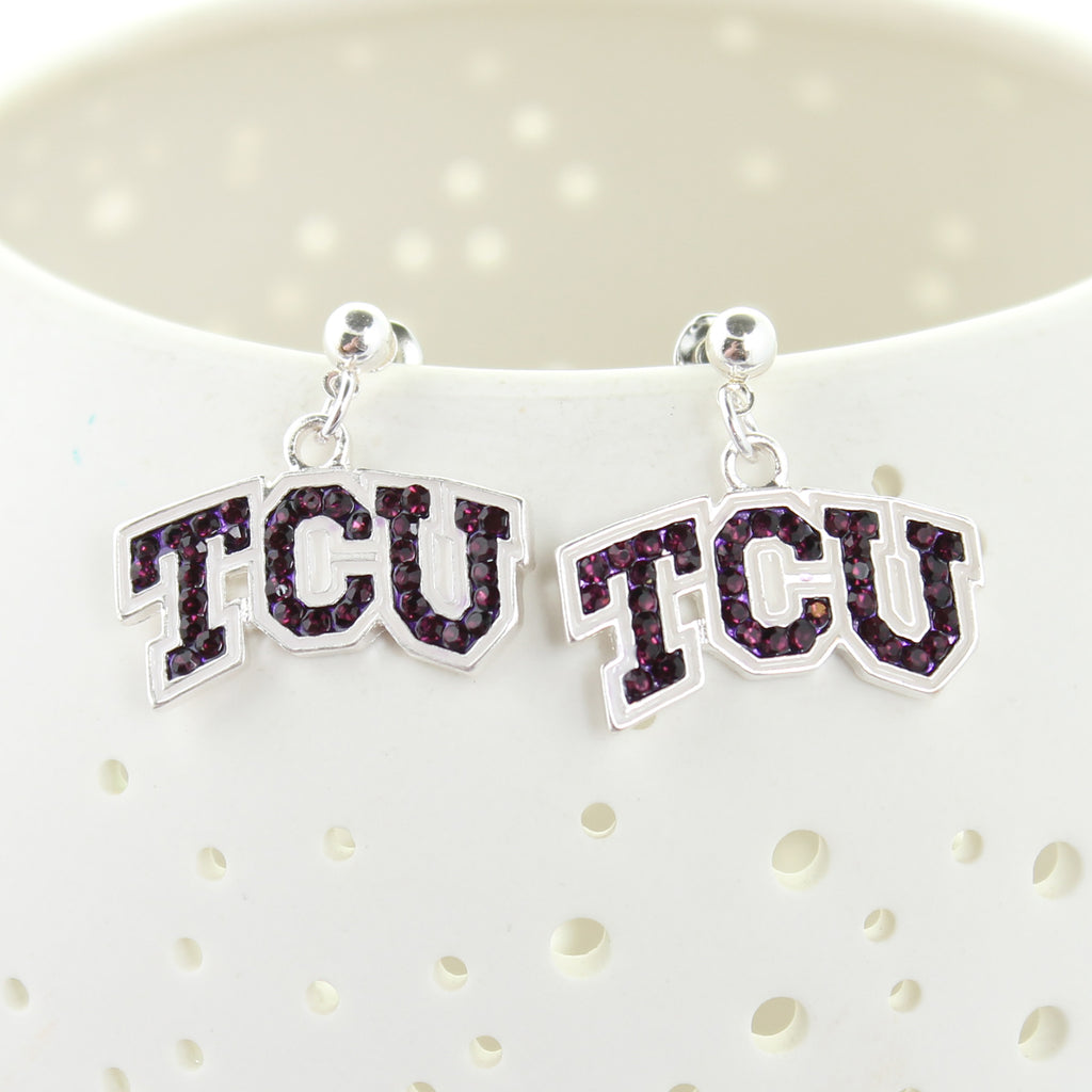 TCU Crystal Earrings