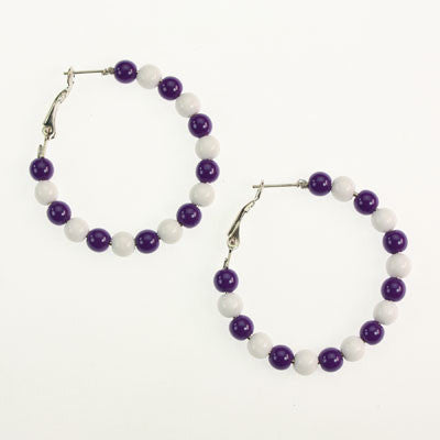 Seasons Jewelry TCU Beaded Hoop Earrings