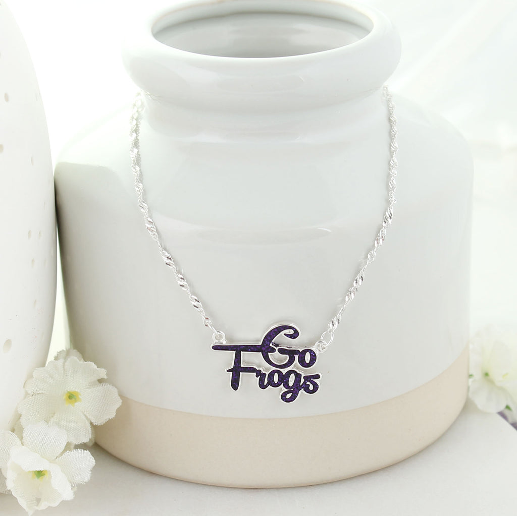 TCU Slogan Necklace