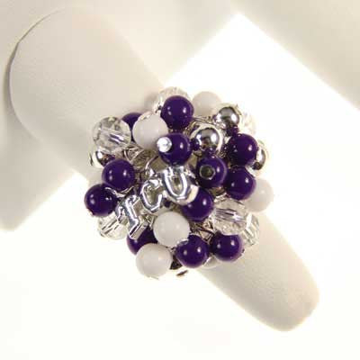 Seasons Jewelry TCU Logo Bauble Ring