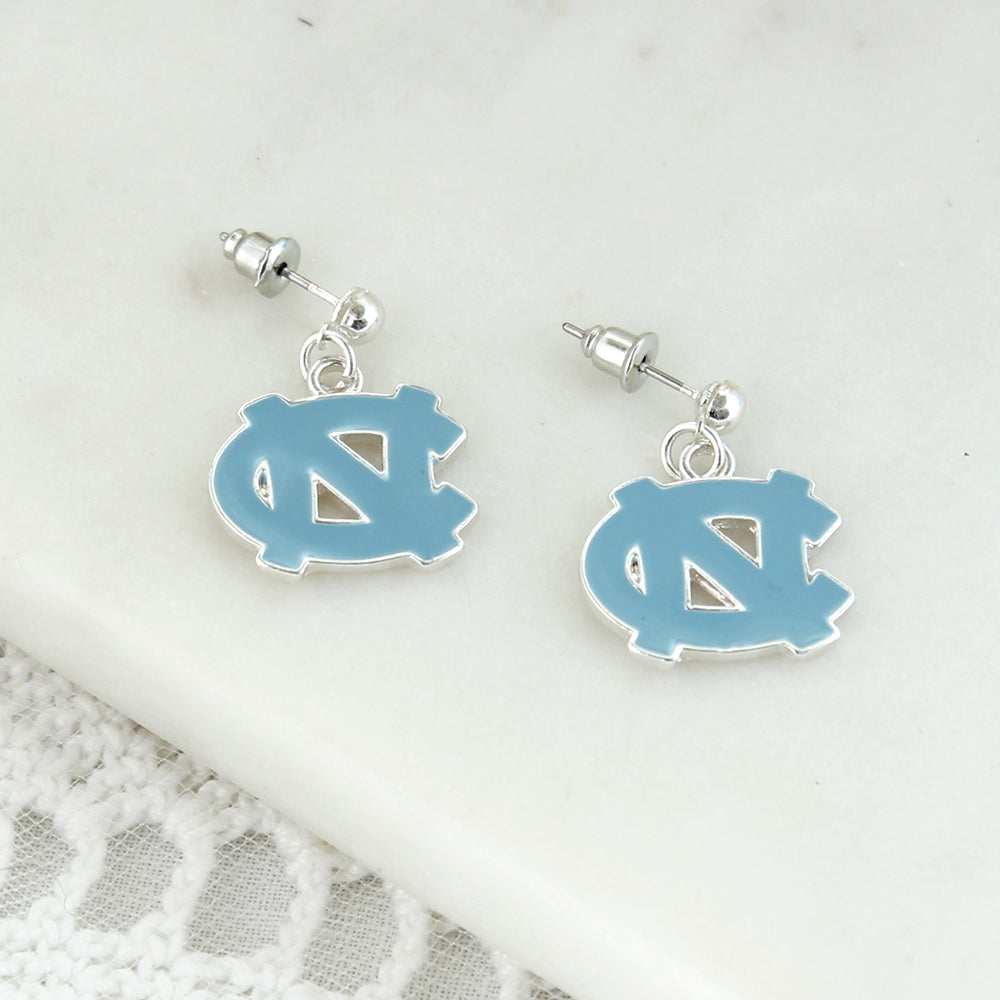 North Carolina Enamel Logo Earrings