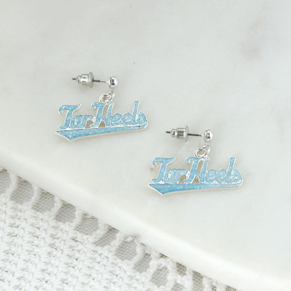 North Carolina Slogan Earrings
