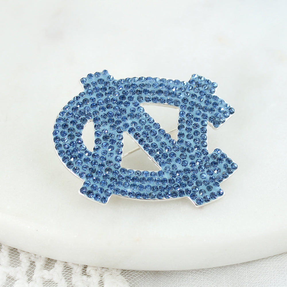 North Carolina Crystal Logo Pin
