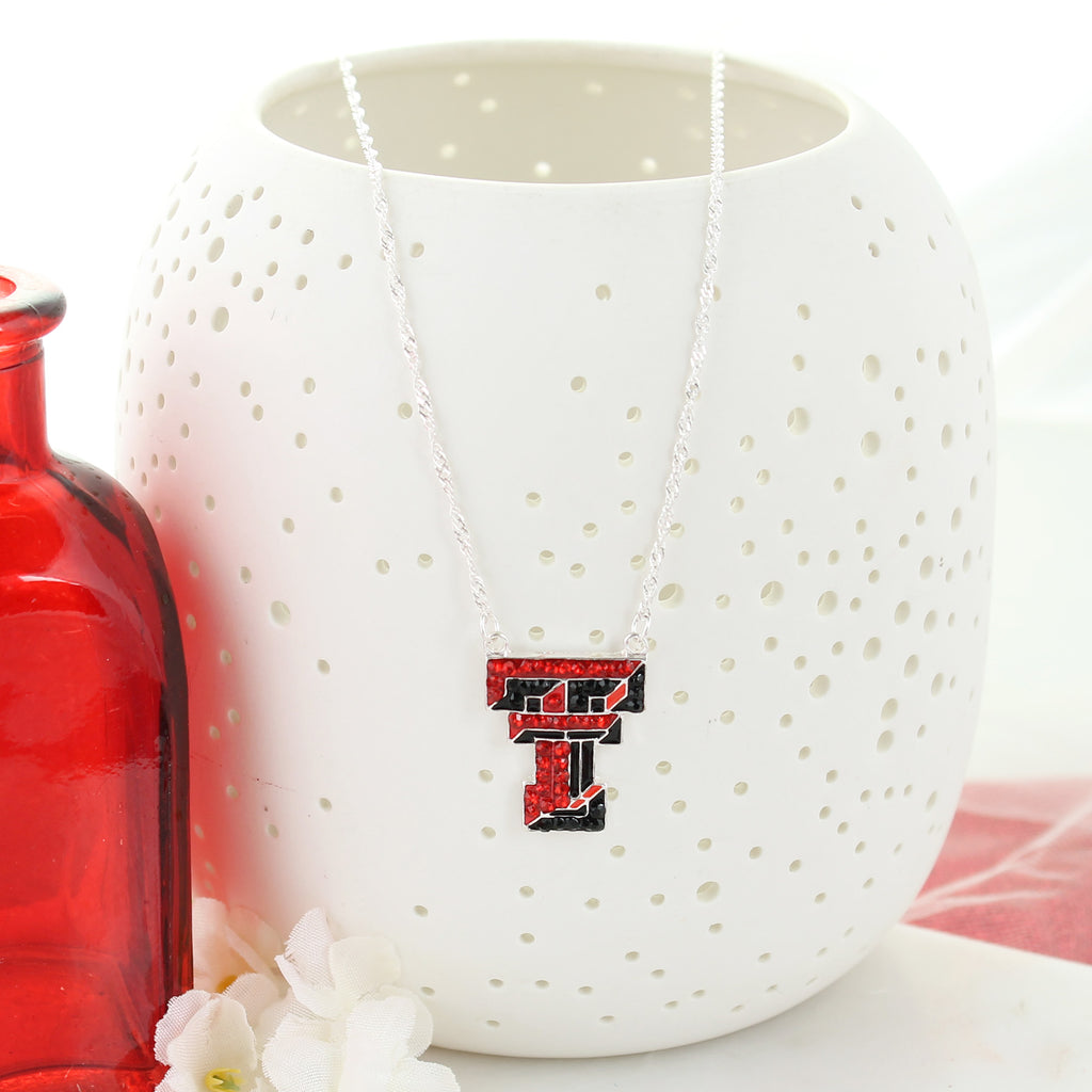 Texas Tech Crystal Logo Necklace
