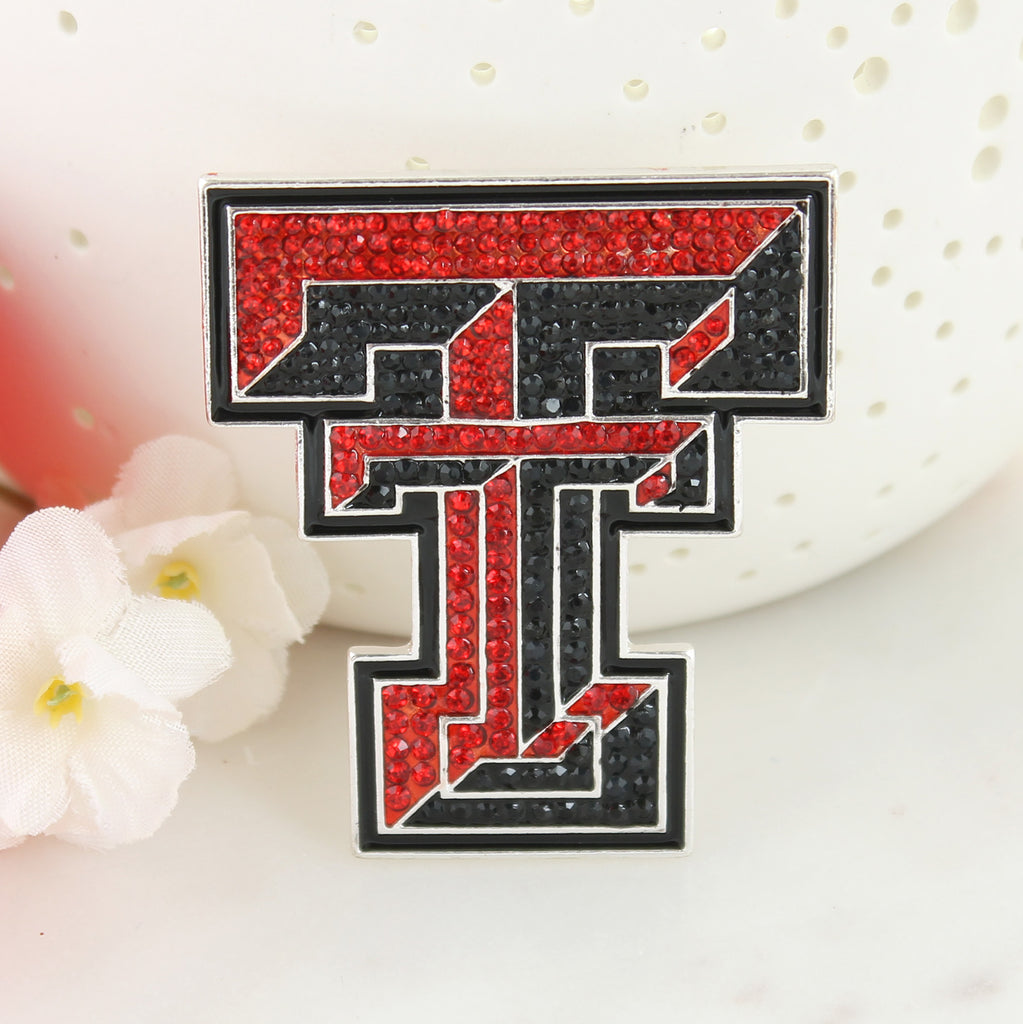 Texas Tech Crystal Logo Pin