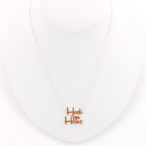 Texas Slogan Necklace