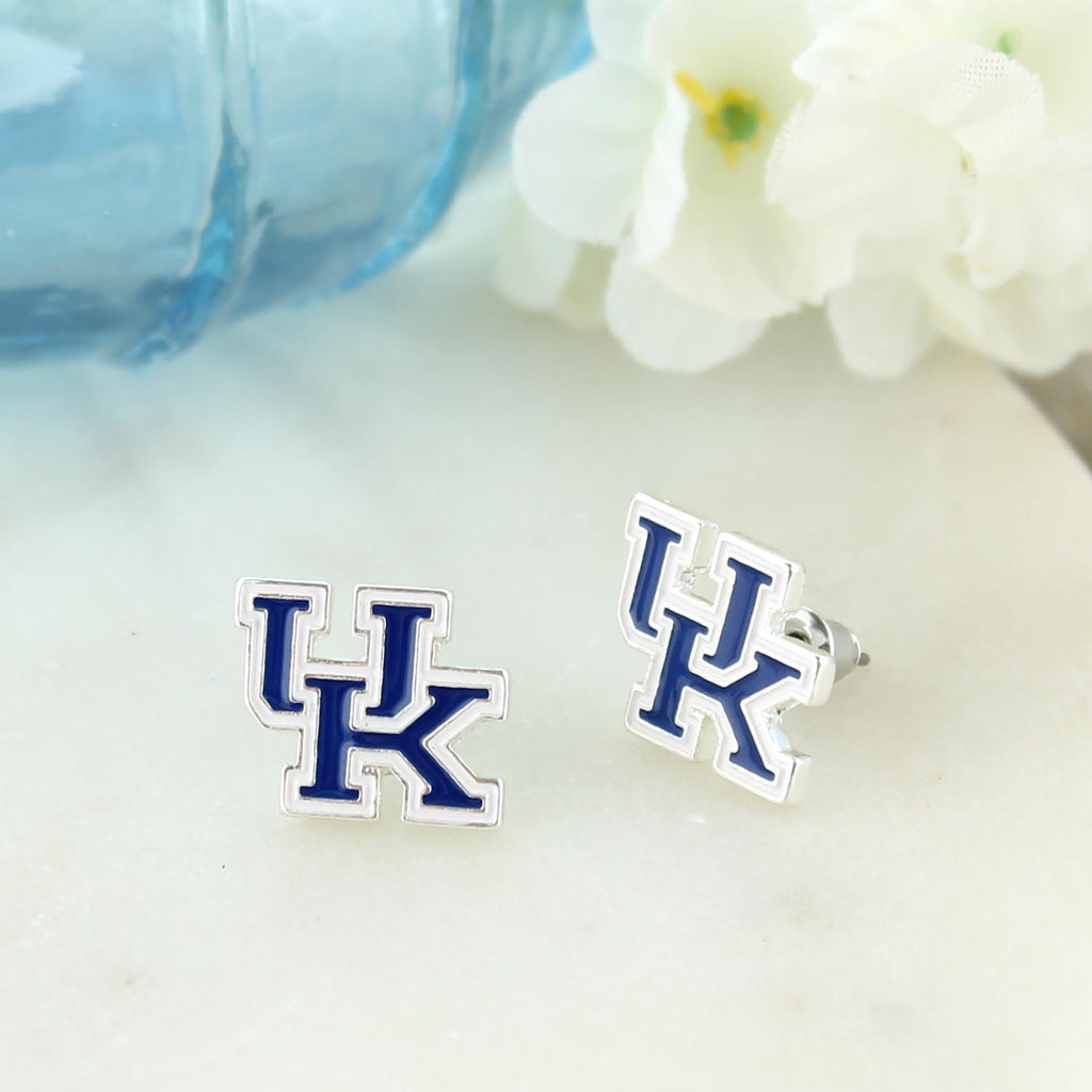 Kentucky Enamel Logo Stud Earrings