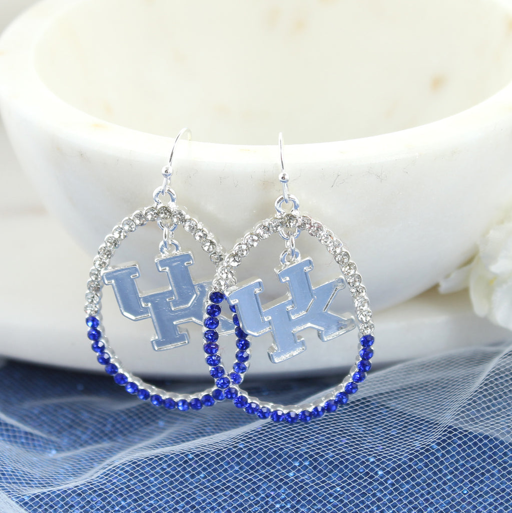 Kentucky Crystal Loop Earrings
