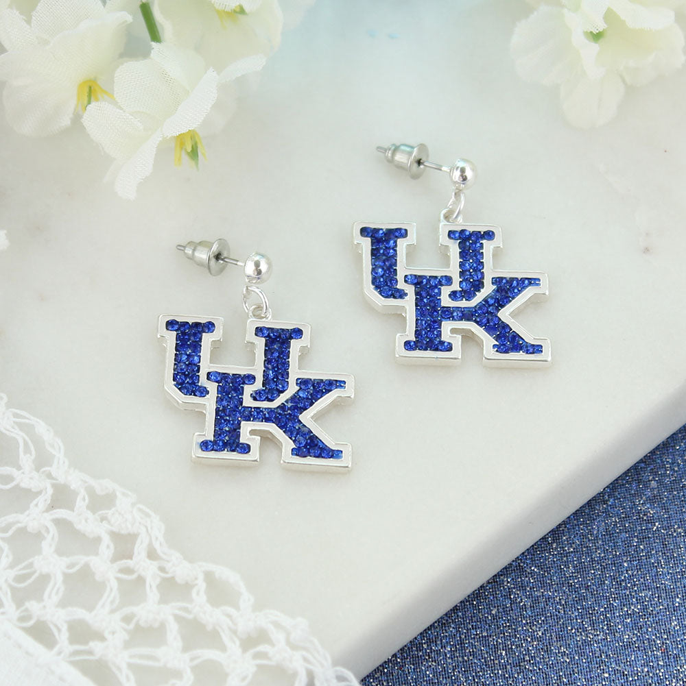 Kentucky Crystal Logo Earring