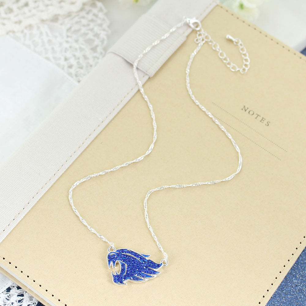 Kentucky Wildcats Crystal Logo Necklace