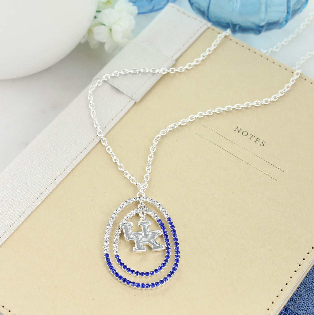 "34"" Kentucky Crystal Logo Necklace"