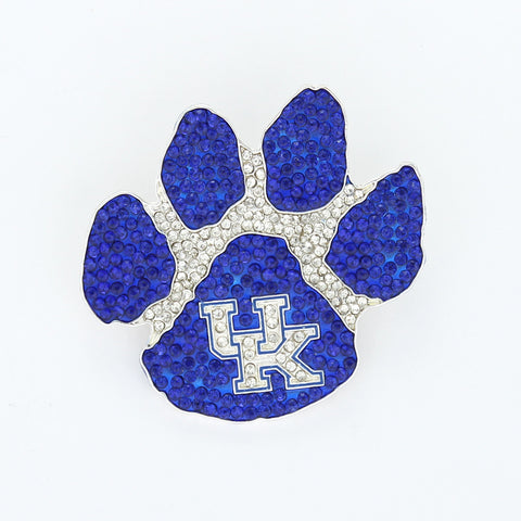 Kentucky Wildcat Paw Crystal Logo Pin