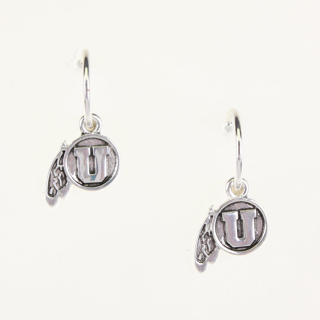 Utah Logo Hoop Earrings