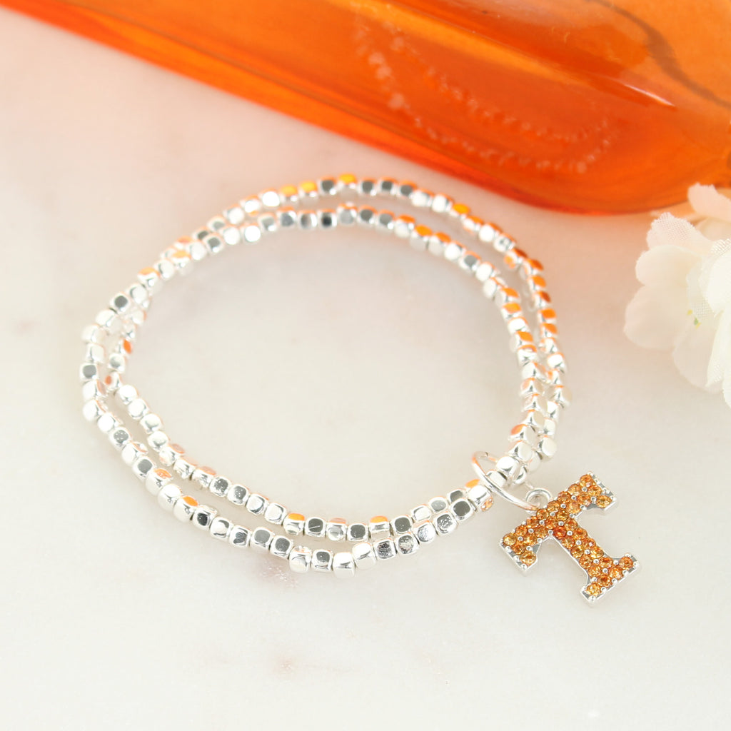 Tennessee Crystal Logo Stretch Bracelet