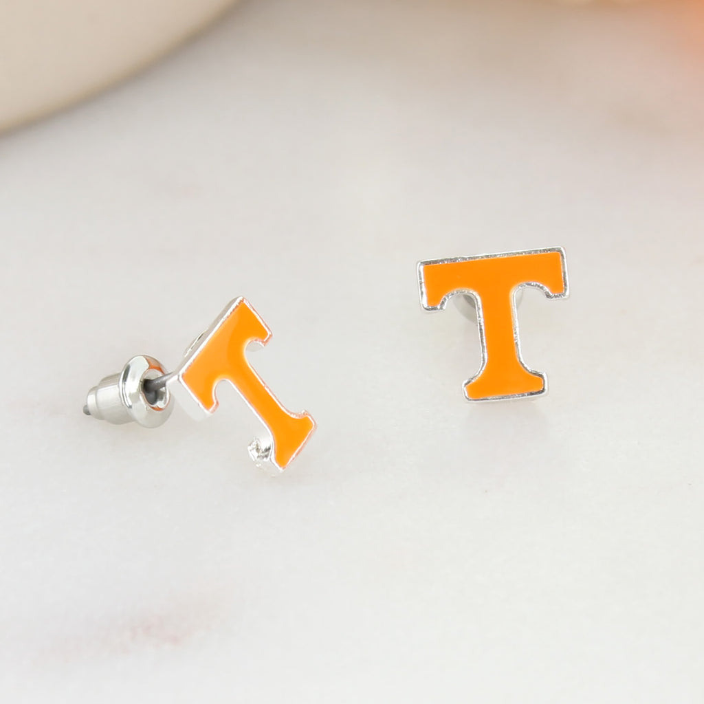 Tennessee Enamel Logo Stud Earrings