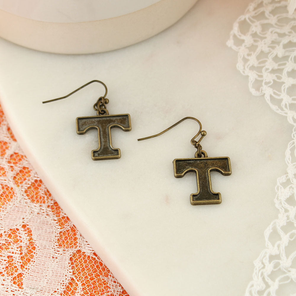 Tennessee Vintage Style Logo Earrings