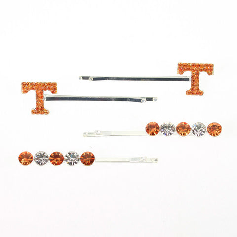 Seasons Jewelry Tennessee Crystal Logo Hair Pin Set