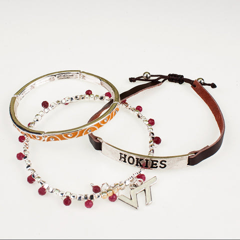 Virginia Tech Trio Bracelet