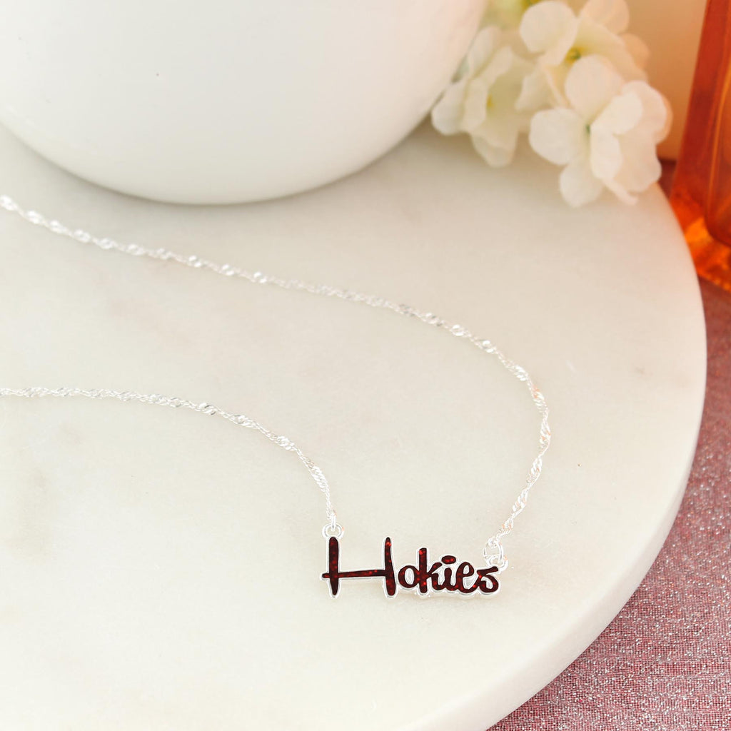 "17"" Virginia Tech Slogan Necklace"
