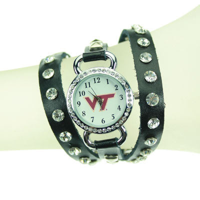 Seasons Jewelry Virginia Tech Logo Wrap Watch