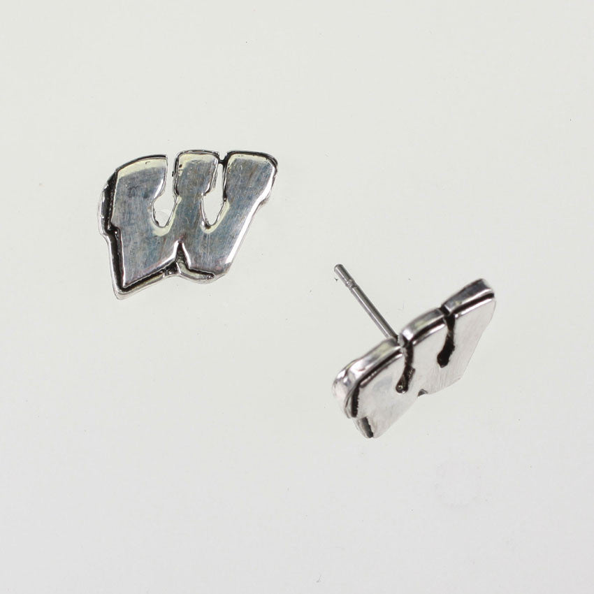 Seasons Jewelry Wisconsin Logo Stud Earrings