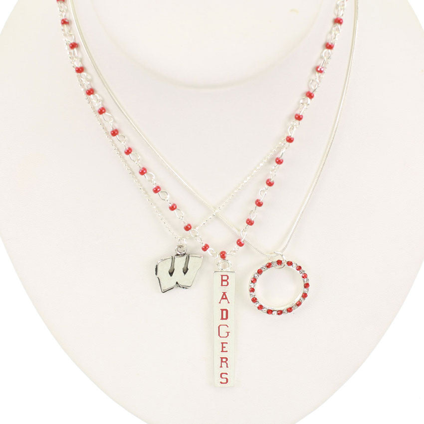Seasons Jewelry Wisconsin Trio Necklace