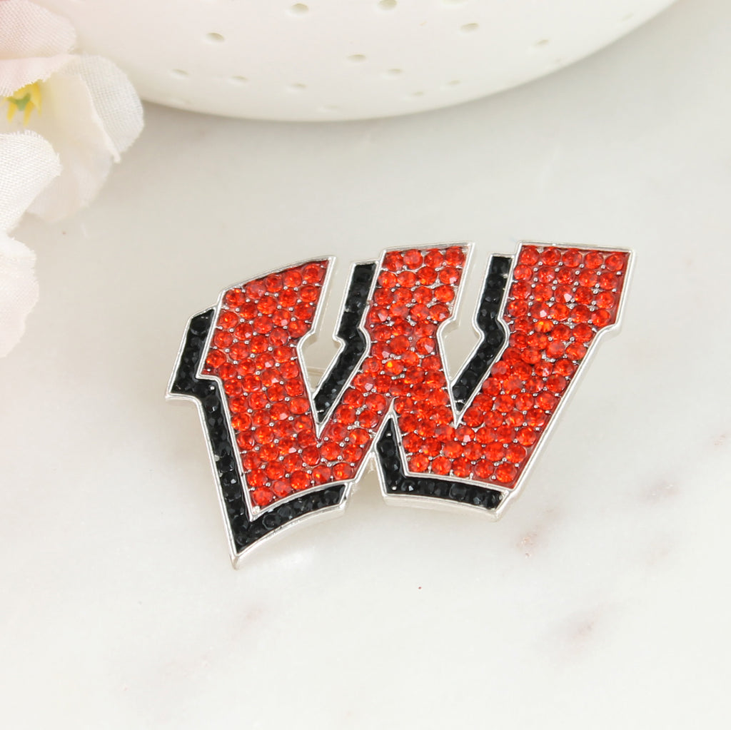 Wisconsin Crystal Pin