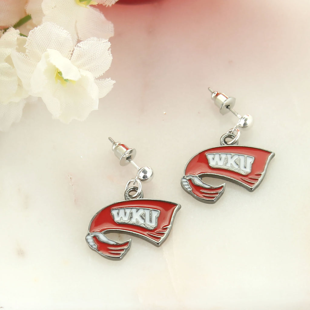 Western Kentucky Enamel Logo Earrings