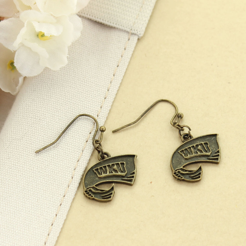 Western Kentucky Vintage Style Logo Earrings