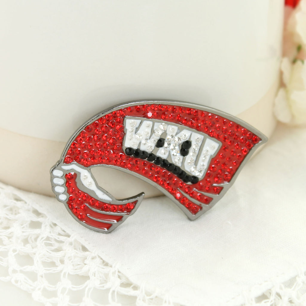 Western Kentucky Crystal Logo Pin
