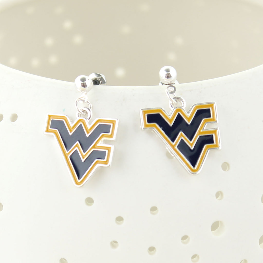 West Virginia Enamel Logo Earrings