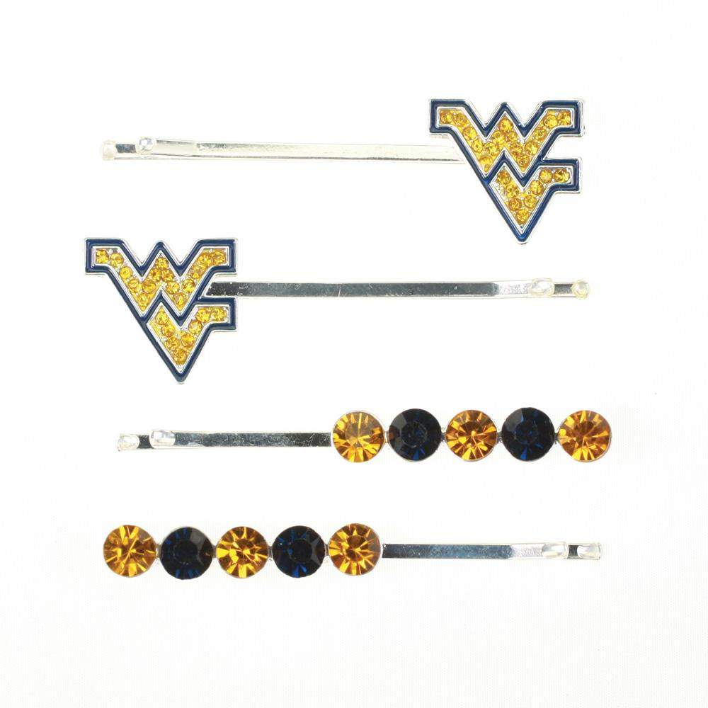 West Virginia Crystal Hairpin Set
