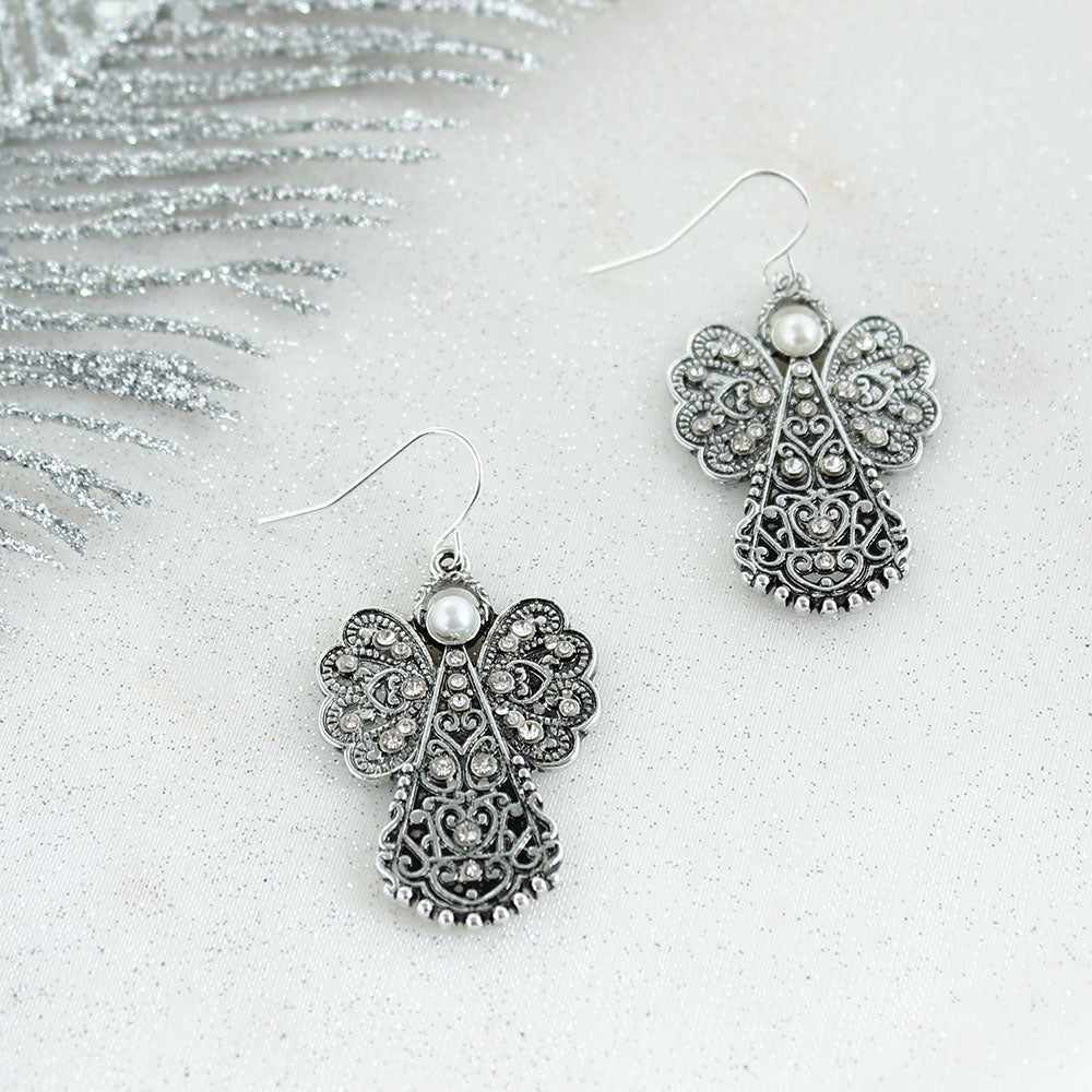 Filagree Angel Earrings