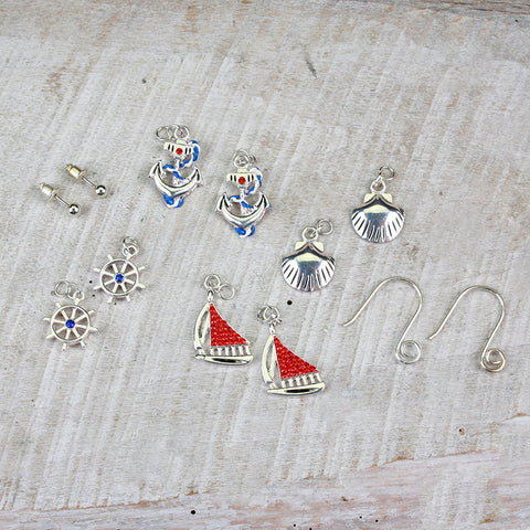 Seasons Jewelry Nautical Interchangeable Earring Set