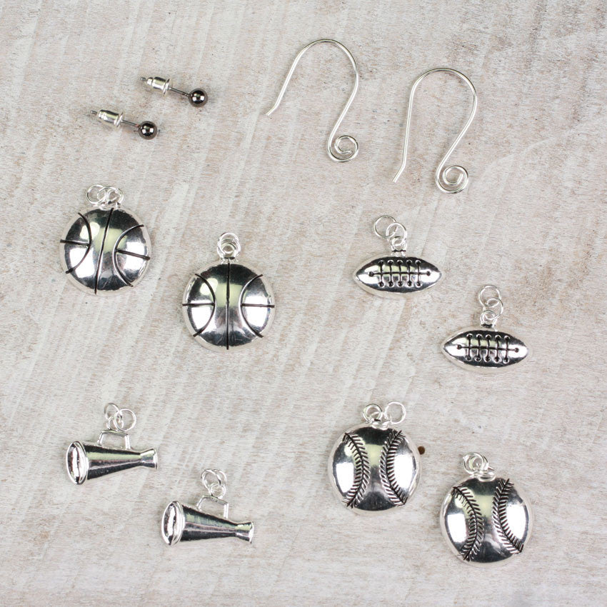 Seasons Jewelry Sports Interchangeable Earring Set