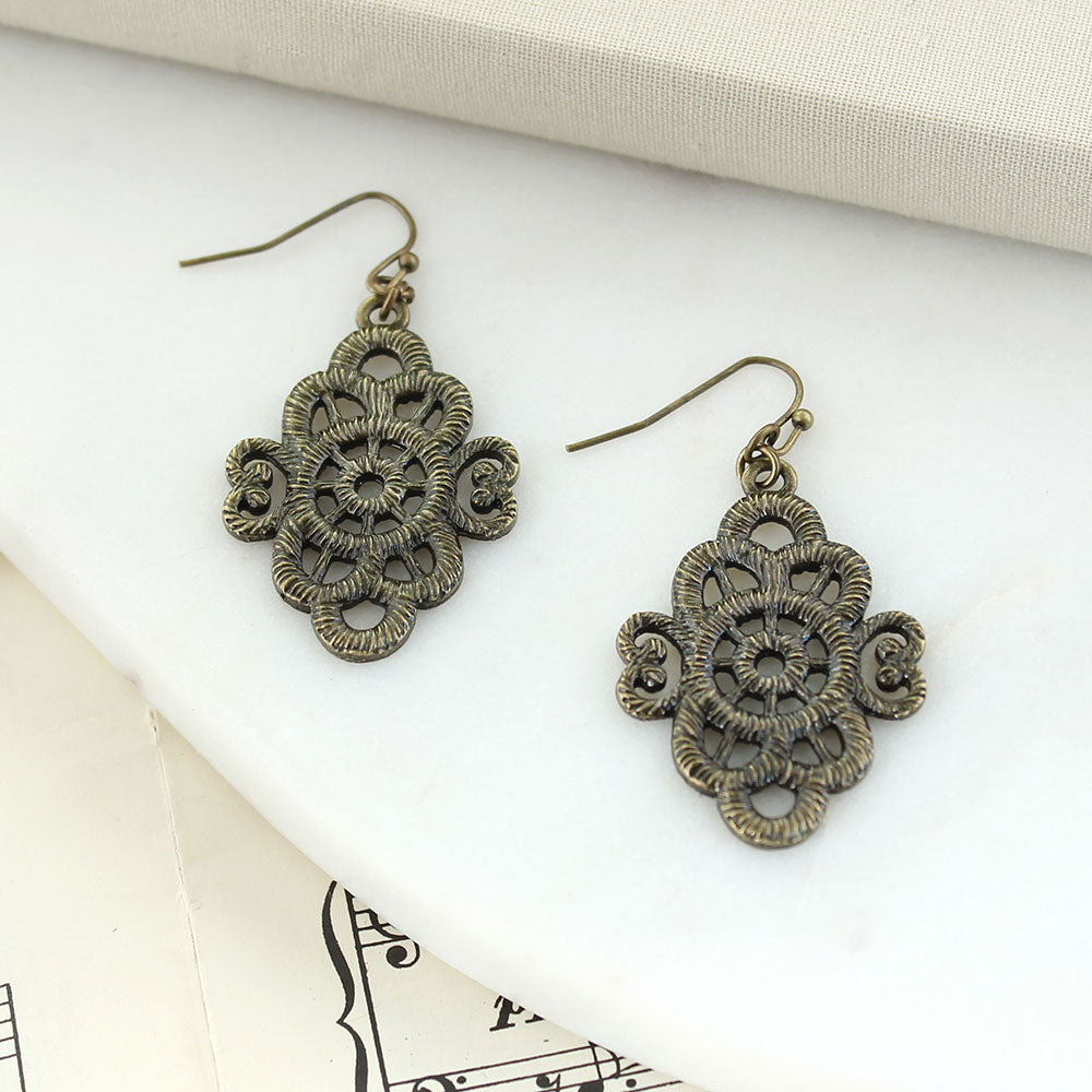 Vintage Style Filagree Earrings